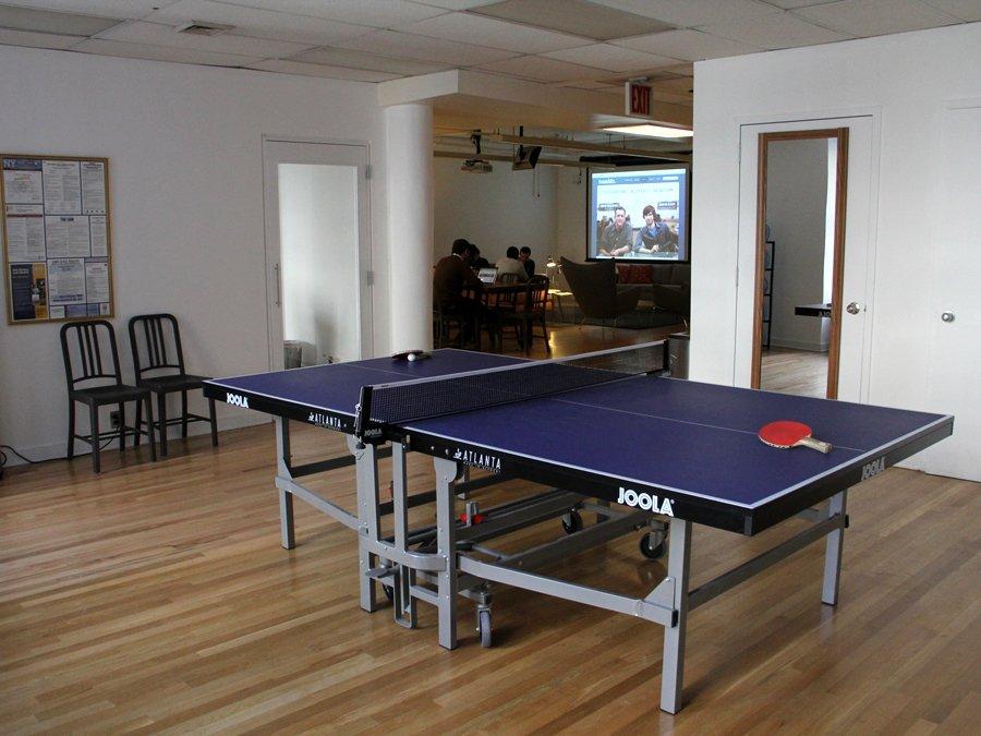 Une table de ping-pong installée dans les locaux de la société américaineTumblr