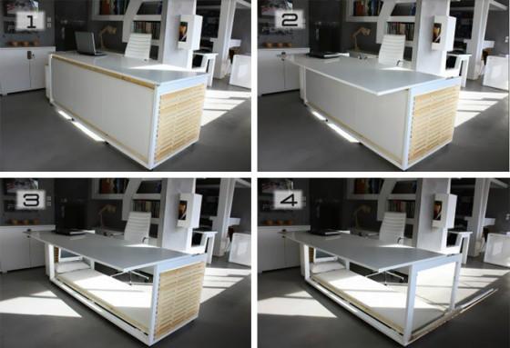faire la sieste au bureau avec ce lit bureau. Black Bedroom Furniture Sets. Home Design Ideas