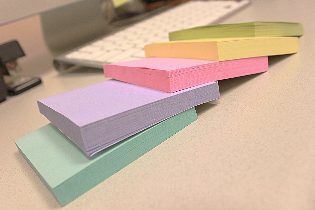 Les Post-it colorés