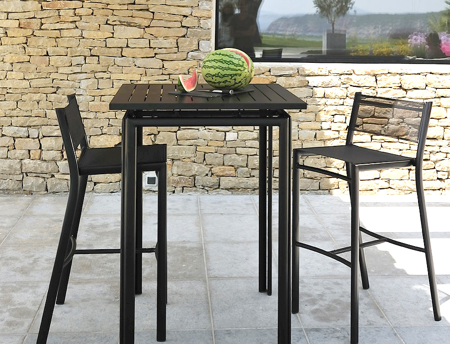 table haute pour terrasse. Black Bedroom Furniture Sets. Home Design Ideas