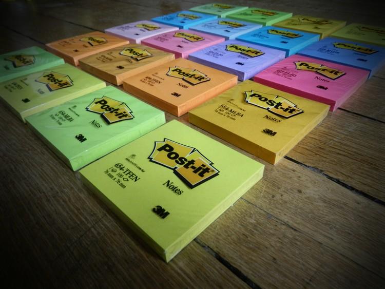 blocs de Post-it couleur