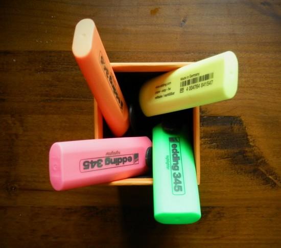 surligneur couleur de bureau