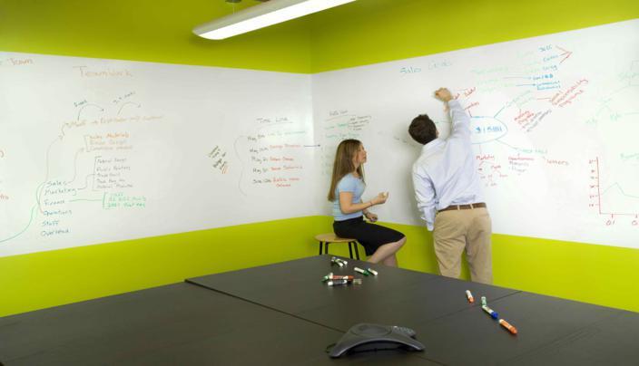 tableau blanc mural pour entreprise
