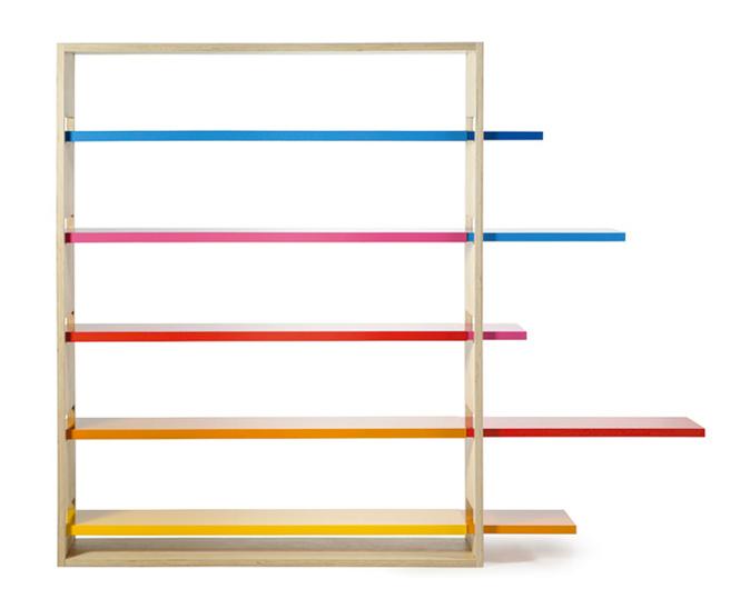 Une étagère de bureau colorée ! (disponible sur demande chez Kollori)