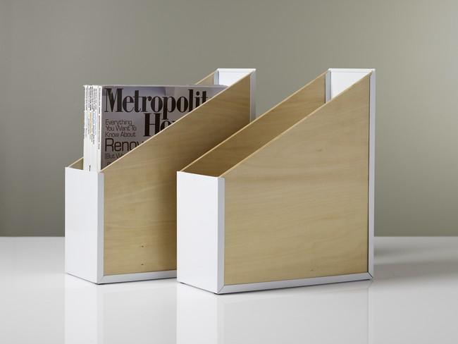 Des boites de rangement qui peuvent faire office de porte magazine (disponibles sur Kollori)