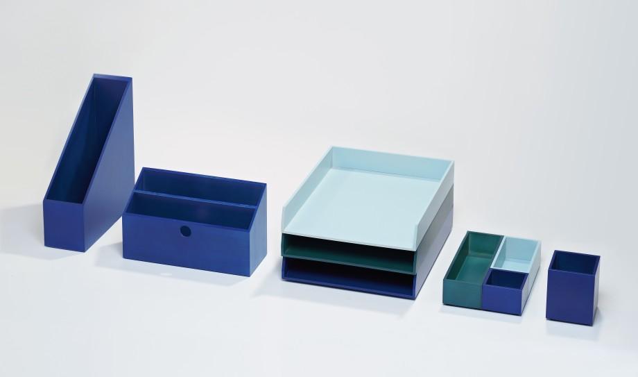 accessoire bureau bleu