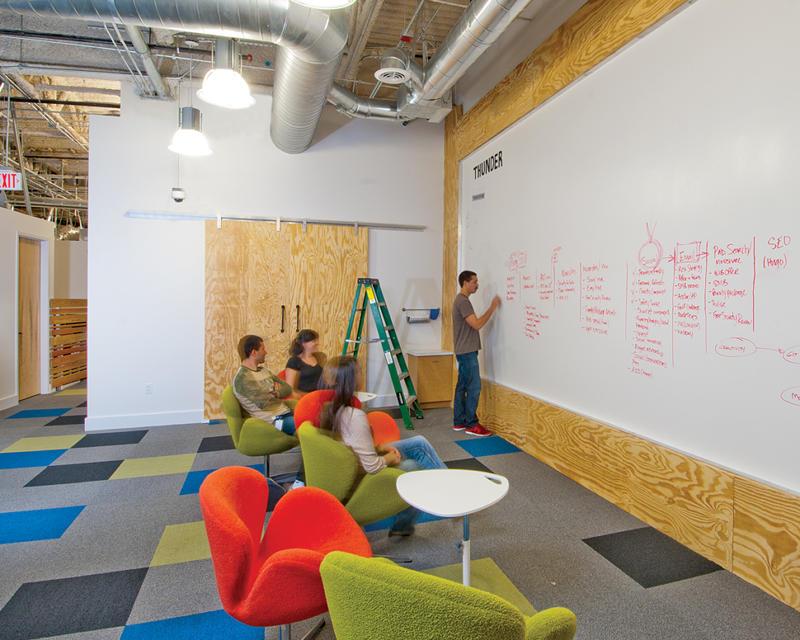 L'espace de brainstorming est facilement accessible chez BGT Partner