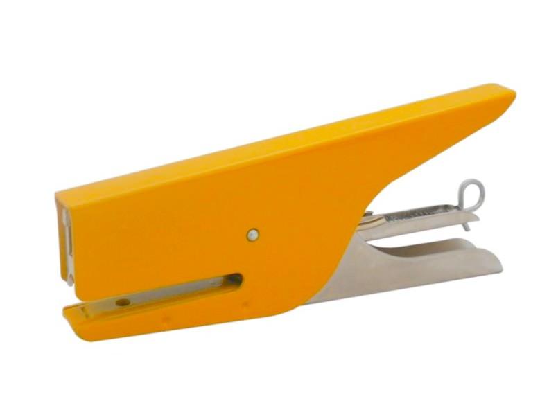 Une jolie agrafeuse de bureau jaune format crocodile